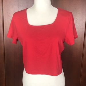 Wild Fable Red Crop Top